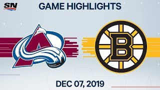 NHL Highlights | Avalanche vs Bruins - Dec. 7, 2019