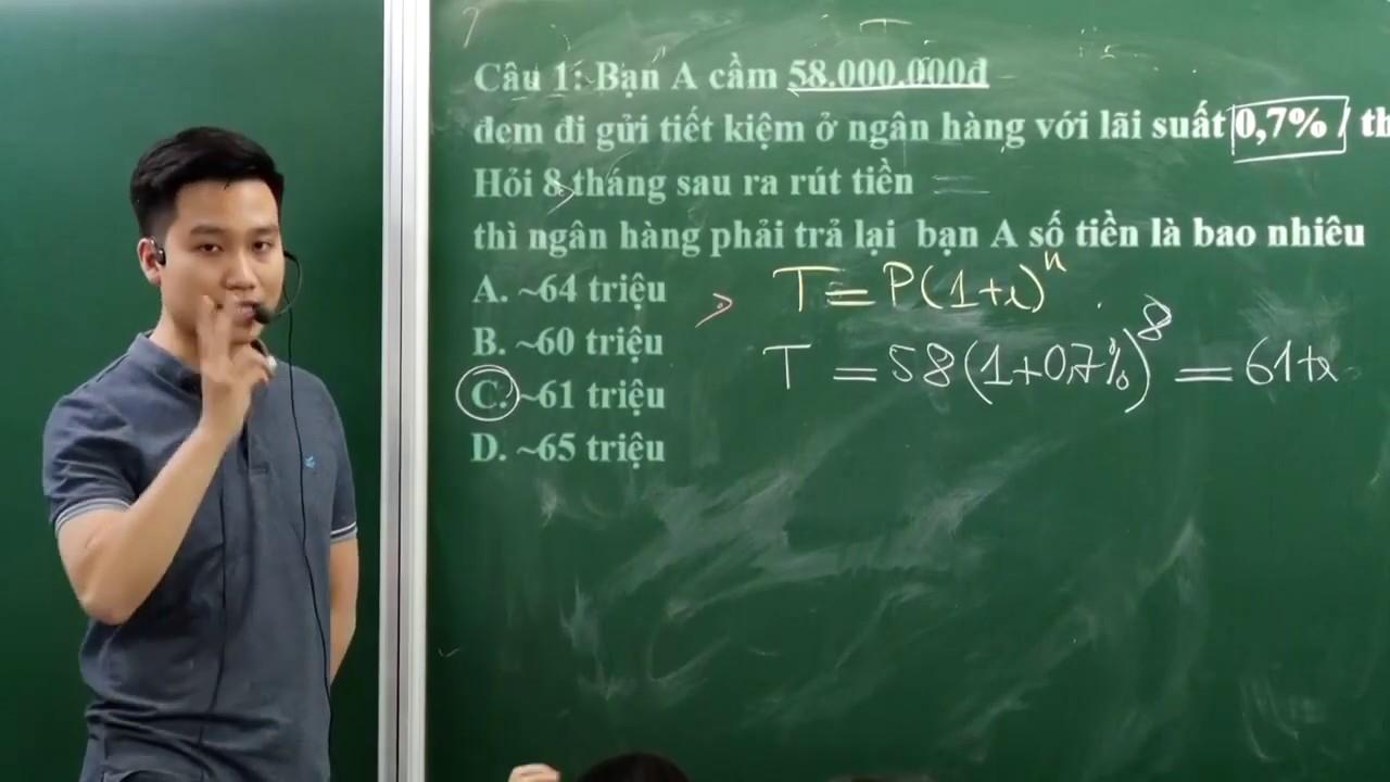 BÀI TOÁN LÃI SUẤT (PHẦN 1) RẤT HAY _Toán 12 (Mới)_ Thầy Nguyễn Quốc Chí
