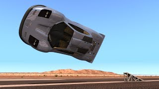 High Speed Flip Ramp Crashes #11 - BeamNG DRIVE