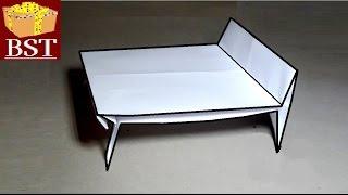 Оригами мебель - КРОВАТЬ из бумаги А4 своими руками…