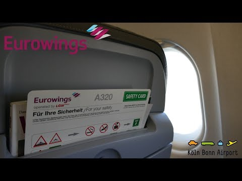 EUROWINGS [TRIPREPORT] BERLIN TXL - COLOGNE BONN | AIRBUS A320 Operated By LGW | FullHD 60fps