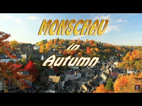Travel oldest cities in Europe. Monschau in Autumn, Germany.