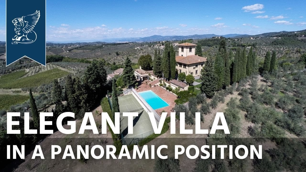Luxurious villa with panoramic view near Florence   Tuscany, Italy   Sold