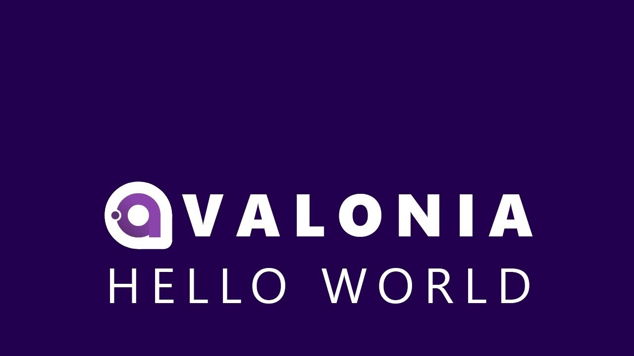 A Cross Platform  NET UI Framework - Hello World in Avalonia UI