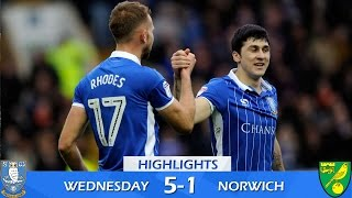 Sheffield Wednesday 5 Norwich City 1 | Extended highlights | 2016/17