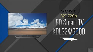 Sony 32 Black LED 720P Smart HDTV KDL-32W600D - Overview