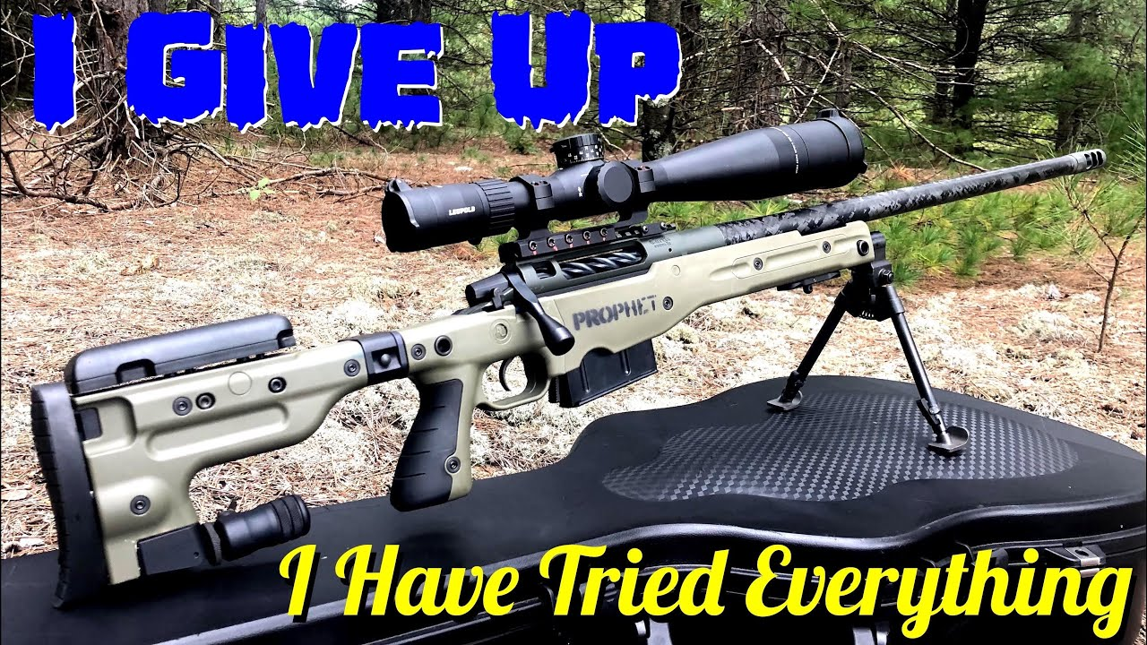 I Cannot Get The Rifle To Shoot More Than 3 RD's And Stay Under 1 MOA