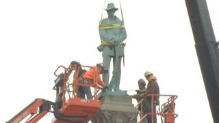 Confederate statue dismantled in Louisville, Kentucky