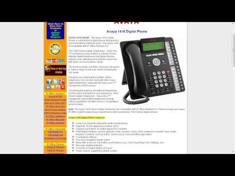 Telecom Tips: Avaya 1400 Series digital phones