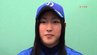 女子プロ野球選手が来社