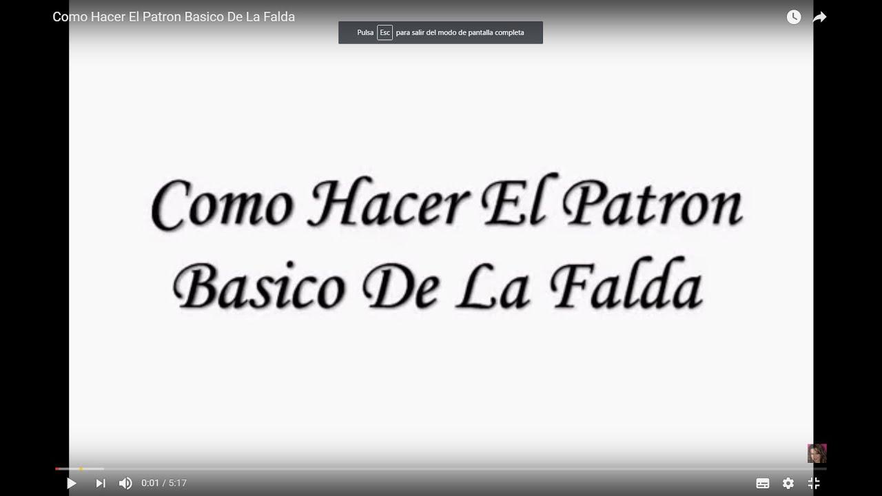 Como Hacer El Patron Basico De La Falda - Jazmin Gastelum - YouTube