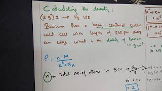 Calculating the density   Exaṁple 2  Solid state -Part 17  TNSCERT  12th Chemistry