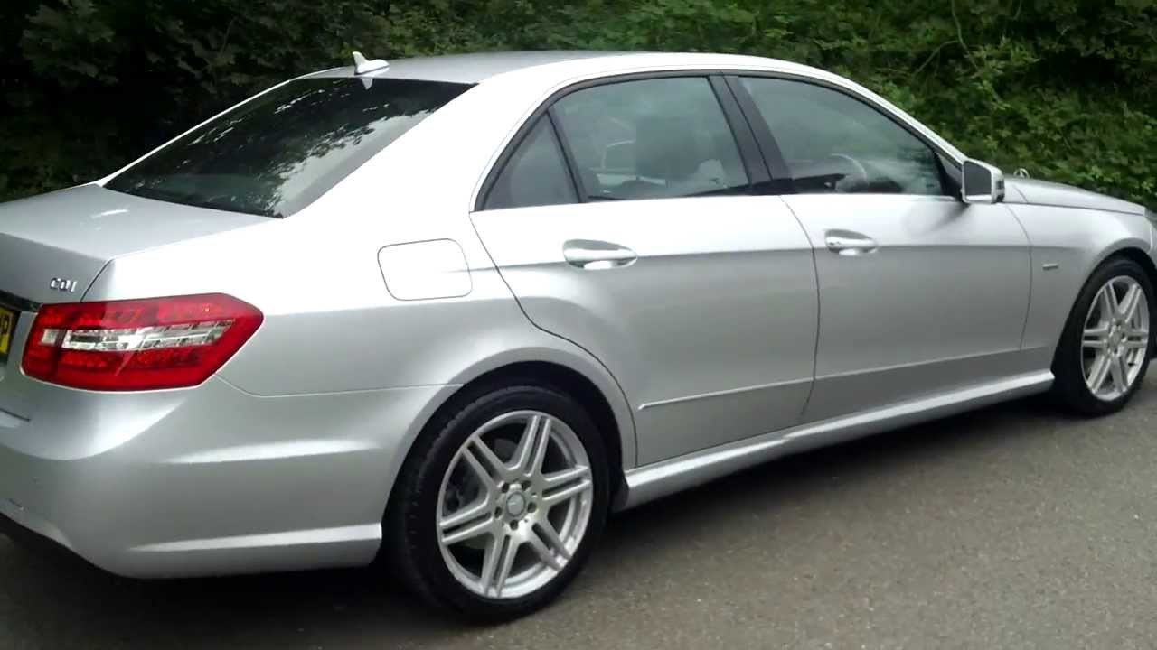 2010 10 mercedes e220 cdi amg sport blueefficiency saloon auto diesel silver mercland youtube. Black Bedroom Furniture Sets. Home Design Ideas