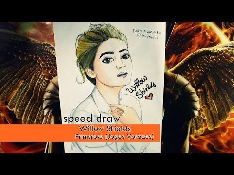 Desenhando Willow shields PRIMROSE EVERDEEN - THE HUNGER GAME - Speed Draw