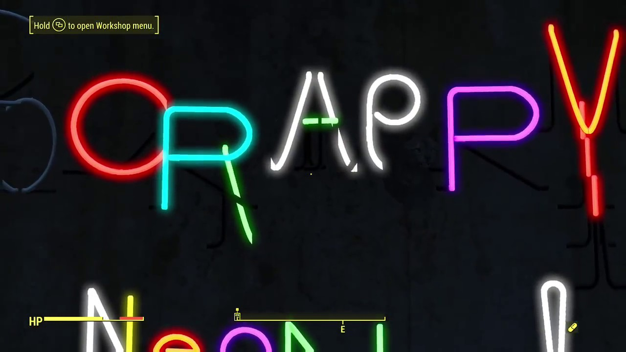 Fallout  Neon Letters