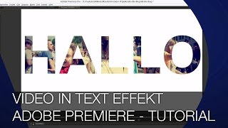 Video in Text Effekt - cooles Hipster Intro Tutorial