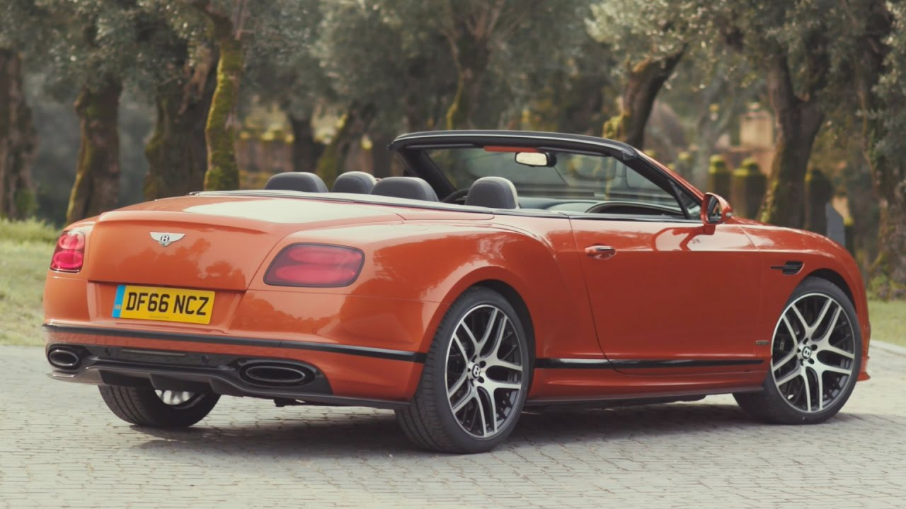 2017 Bentley Continental Supersports Convertible Open Air Driving