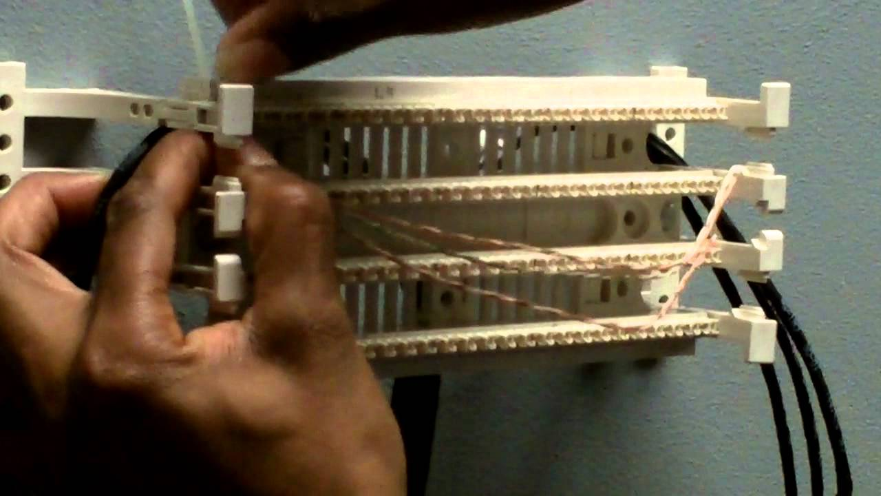 110 Punch Down Block Wiring Diagram 110 Termination Mov Youtube