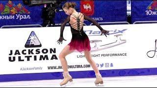 Александра Трусова на тренировке перед ПП Чемпионат России 2021 Ч 2