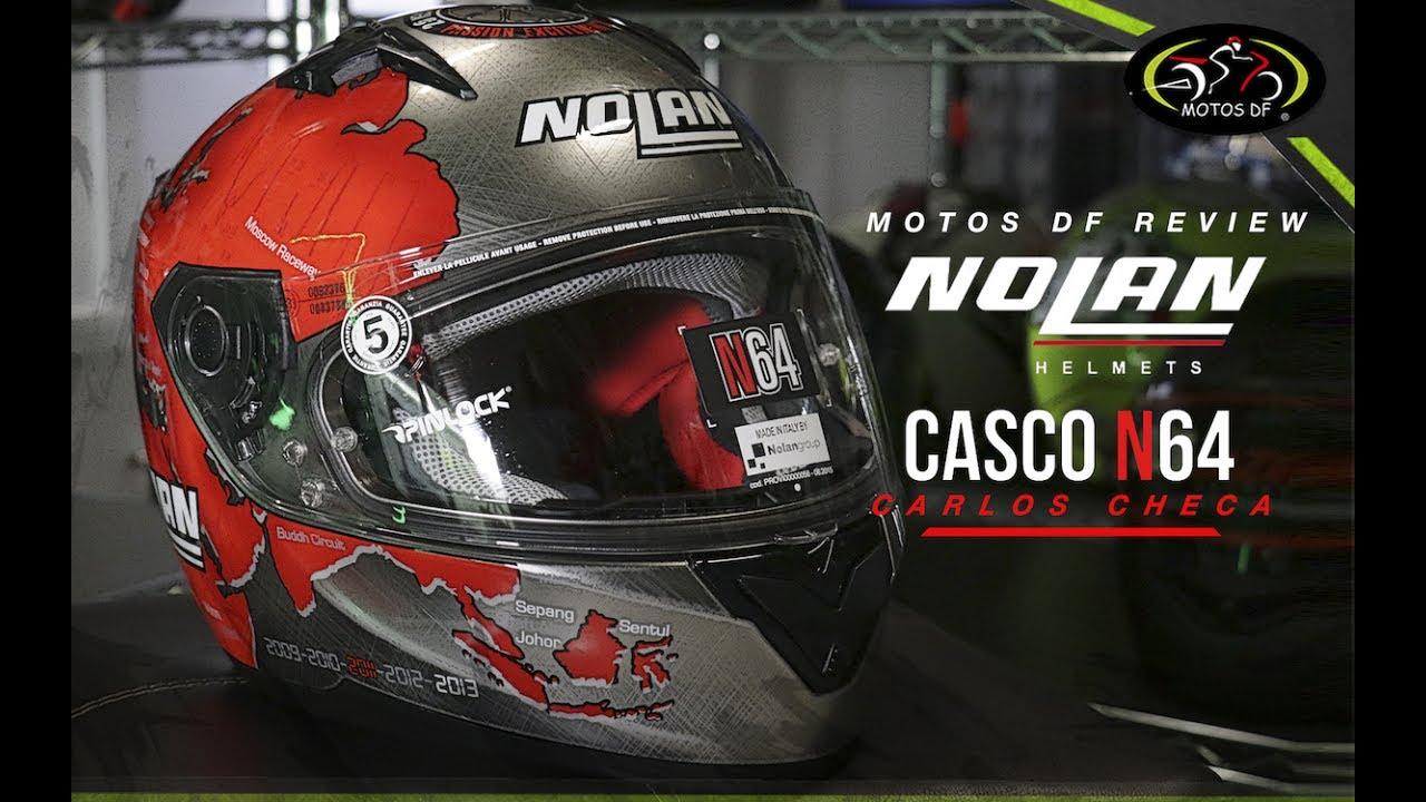 e9db406db7cd0 Casco Nolan N64 Carlos Checa - MOTOS DF - YouTube