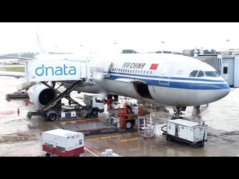 CA976 flight review (Air-China) Singapore to Beijing (SIN-PEK) 2017 [With plane interior video]