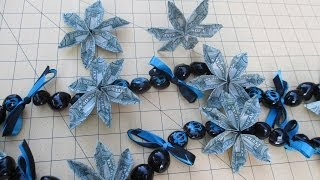 How to Make an Origami Money Flower and Kukui Nuts Lei - asimplysimplelife