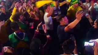 Фан зона ЧМ 2018  Бразильские болельщики против Аргентинских