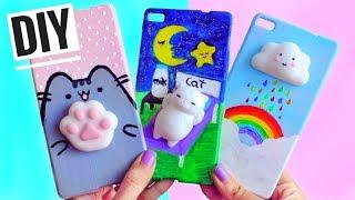 3 DIY VIRAL SQUISHY PHONE CASES | Cat, cloud & cat footprint