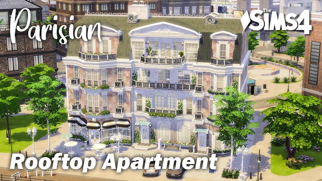 Parisian Rooftop Apartment | No CC | Artworks | Stop Motion | Sims 4