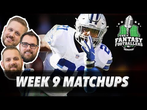 Fantasy Football 2017 - Week 9 Matchups, In-or-Out, Big News - Ep. #472