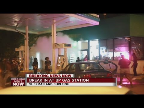 Watch: Crowd Burns Down BP Station