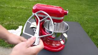 KitchenAid Professional 600 Series 6 Quart Stand Mixer Unboxing - Empire Red KP26M1XER