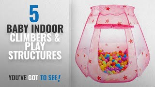 Top 10 Baby Indoor Climbers & Play Structures [2018]: GIM Kids Pink Princess Play Tent Castle