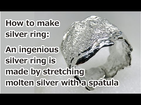 Melt the silver scrap and make heavyweight rings