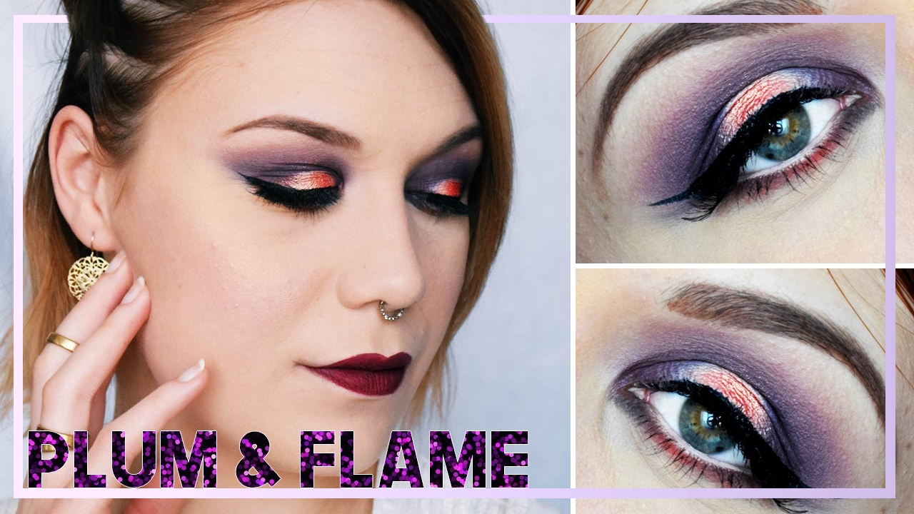 plum flame smoky eye tutoriel maquillage yeux vert youtube. Black Bedroom Furniture Sets. Home Design Ideas