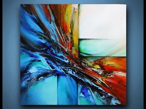 Abstract Painting DEMO 10 - Acrylic painting / speed ...