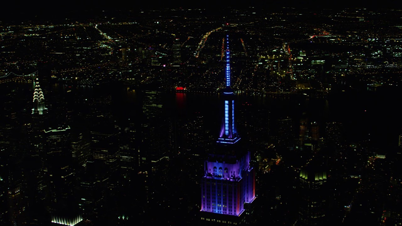 Empire State Building Alford Antenna 50th Anniversary Lightshow
