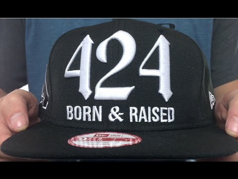 Area Code BORNNRAISED SOCAL SNAPBACK Black Hat By New Era - What area code is 424