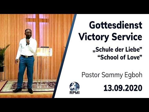 """RPMI-Gottesdienst - Livestream vom 13.09.2020 - Pastor Sammy Egboh """"Schule der Liebe"""""""