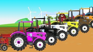 Learn Colors with Mr. Tractor & Cartoon for Children and Babies | Kolorowe Traktory dla Dzieci