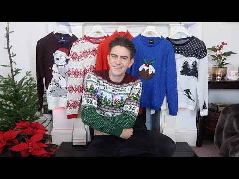 CHRISTMAS JUMPER HAUL UK & TRY ON | MENS CHRISTMAS JUMPERS 2017