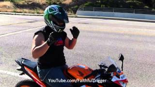 2013 Honda CBR250R REPSOL SE Fly By Beginner Squid Rider M4 Exhaust Sound With DARNA Stone VLOG
