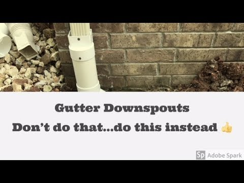 Downspout Drainage System 2 Mistakes Youtube