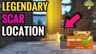Scar Location! How To Get a Legendary Scar Every Game in Fortnite Battle Royale! All Chest Locations