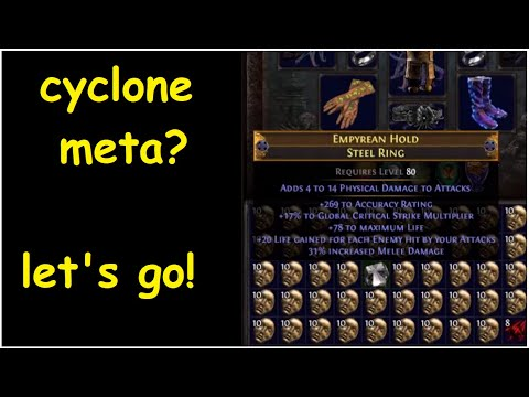 Crafting a PERFECT Impale Cyclone Elder Steel Ring: EMPYREAN HOLD (Start to Finish) | demi