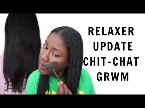 Relaxer Update 2019 + Length Check | Chit Chat GRWM