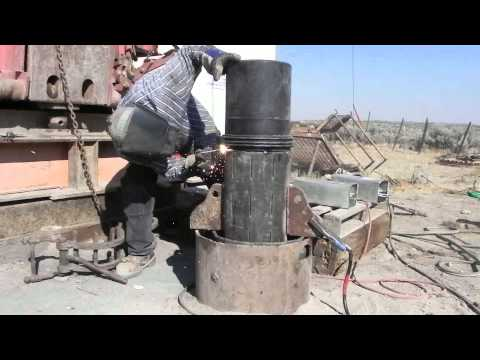 Installing K-Packers & 10 Inch Casing Dietrich Idaho New Well 7-23-2013