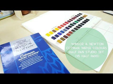 w nsor newton cotman water colours half pan studio set 45