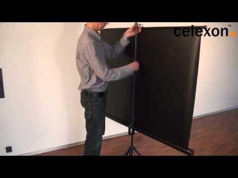 montage d 39 un cran de projection sur pied celexon youtube. Black Bedroom Furniture Sets. Home Design Ideas