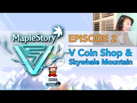 [MapleStory V Update] V Coin Shop (Damage Skins, Chairs, Mounts) & Skywhale Mountain - EP. 2